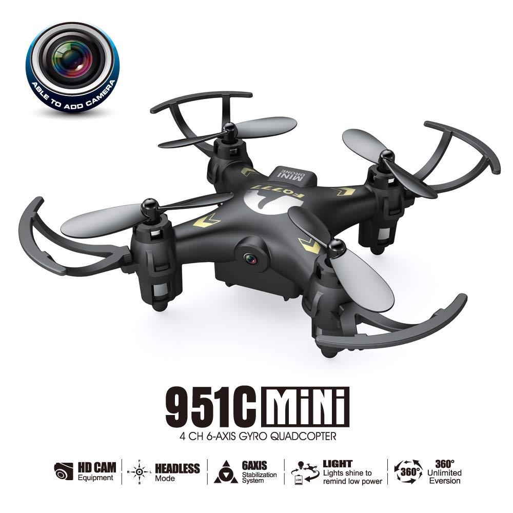 ZMM Mini Quadcopter Modo sin Cabeza Video cámara Drone RC árbol Dispositivo de grabación Quadcopter con retención de altitud y un botón de despegue/Aterrizaje, Bueno para Principiantes