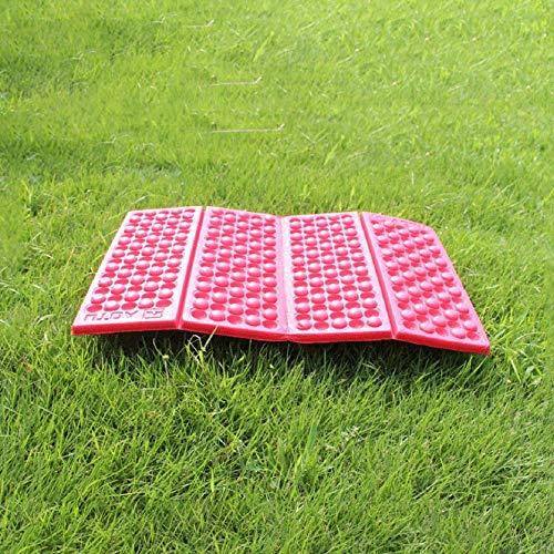 Rojo Alfombrilla de Espuma EVA Plegable port/átil al Aire Libre Coj/ín de Asiento Impermeable a Prueba de Humedad Coj/ín para Senderismo Camping Viaje Alfombra de Nido de Abeja