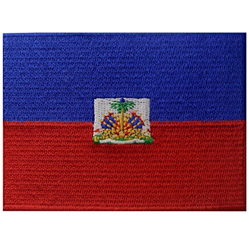 Haiti Flag Embroidered Patch Haitian Iron On Sew On National Emblem