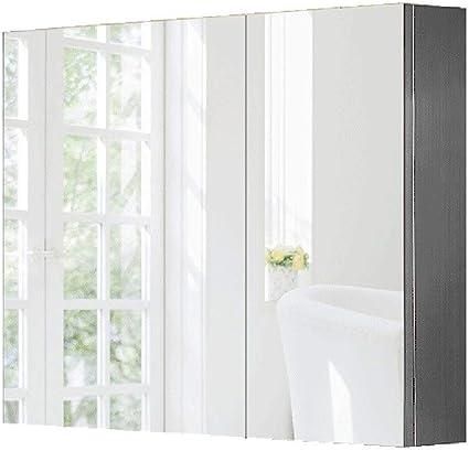 Armarios con espejo Espejo De Baño Gabinete Acero Inoxidable Espejo Dormitorio Armario Balcón De Pared Espejo Gabinete Sala De Estar Espejo Gabinete De Almacenamiento: Amazon.es: Hogar