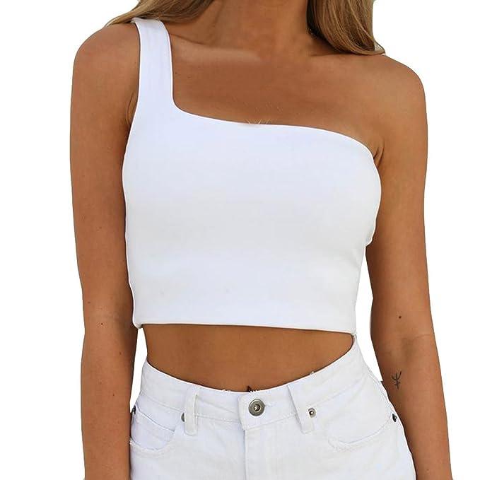 e5fba380c9b1 Camiseta Sin Mangas🌱EUZeo🌱Sujetador Sin Espalda Tunica Mujer Blusas de  Mujer Elegantes de Fiesta Blusa Hombros Descubiertos Crop Tops Mujer  Chaleco Mujer ...