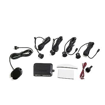 sourcingmap Vehículo Coche LEDs Pantalla Ayuda Parking Parking 4 Sensores de Distancia de Marcha Atrás Reversa Kit de Alerta de Sonido Negro: Amazon.es: ...