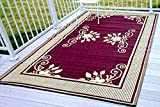 Outdoor Patio Rugs Outdoor Patio RV camping Rug Mat 6'x9' Picnic Garden Reversible, 69000004