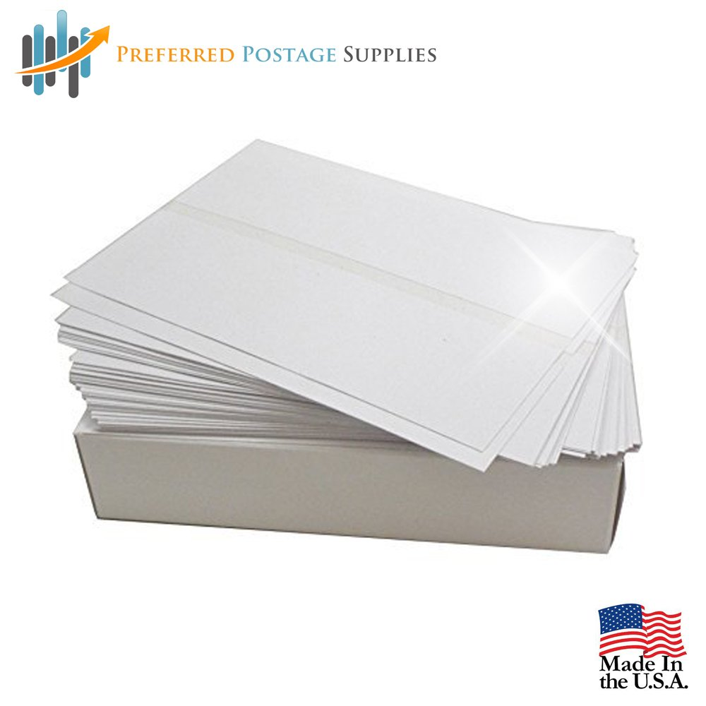 (USPS Approved) Bright White Box of 300 Double Postage Meter Tapes 5 1/2 x 3 1/2 With Perf Compares to Pitney Bowes 612-0, 612-7, 612-9 & 620-9 Postage Meter Tape Two labels Per Sheet