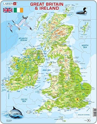 Immagini Della Cartina Della Gran Bretagna.Larsen K5 Mappa Fisica Della Gran Bretagna E Dell Irlanda Edizione N4y Ebay