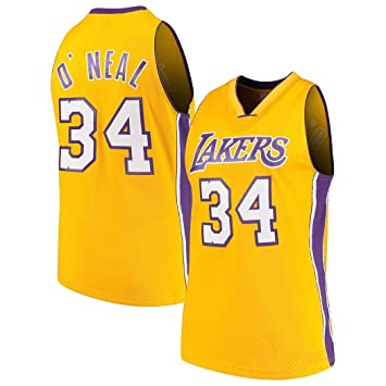 Shaquille ONea 34# Baloncesto Jersey NBA Los Angeles Lakers Traje ...