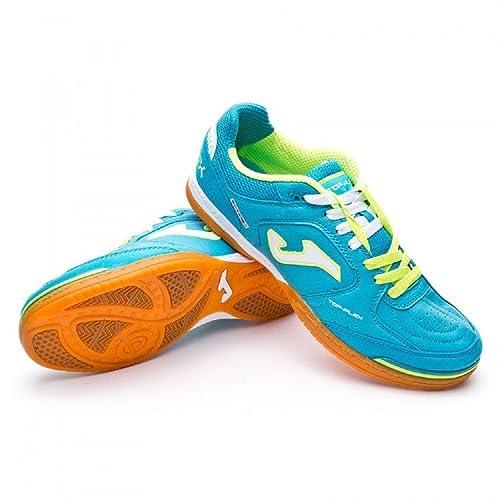 Joma Top Flex, Zapatilla de fútbol Sala, Celeste-Amarilla: Amazon.es: Zapatos y complementos
