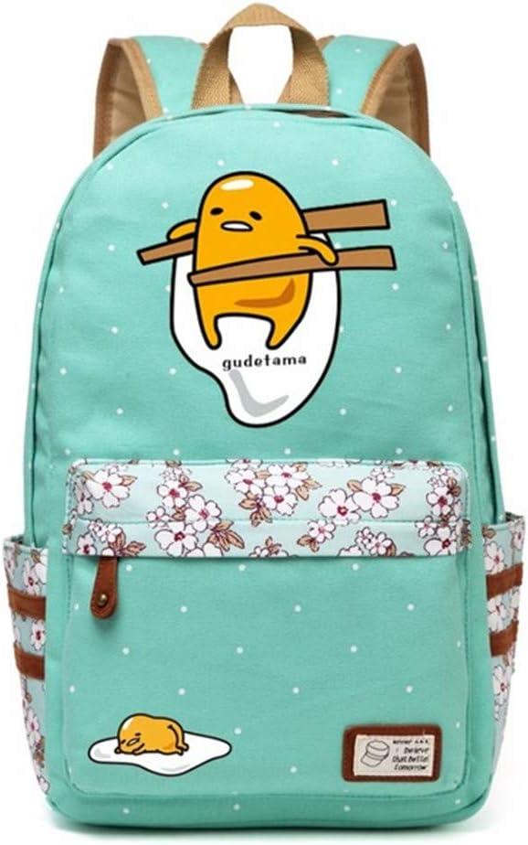 Siawasey Gudetama Lazy Egg Backpack Cartoon Laptop Daypack Shoulder School Bag (A3)