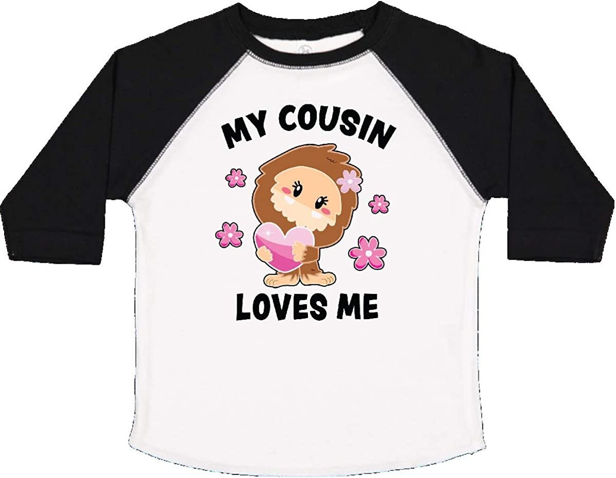 inktastic My Cousin Loves Me with Bigfoot Toddler T-Shirt