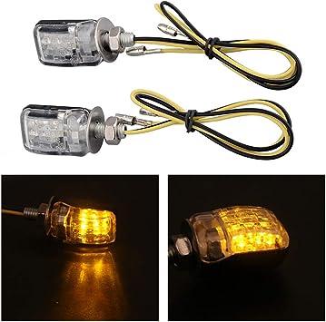 4x Universal Flowing Motorcycle Motorbike LED Turn Signal Indicator Light New TR