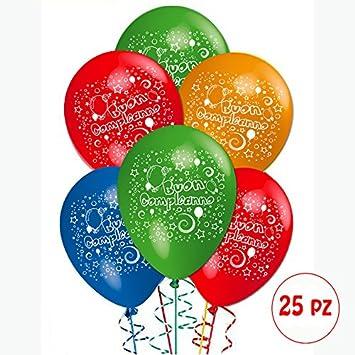 Paquete de 25 globos para fiestas de cumpleaños para adorno y decoración