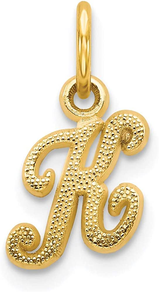 10k Yellow Gold Initial Monogram Name Letter K Pendant Charm Necklace Fine Jewelry Gifts For Women For Her
