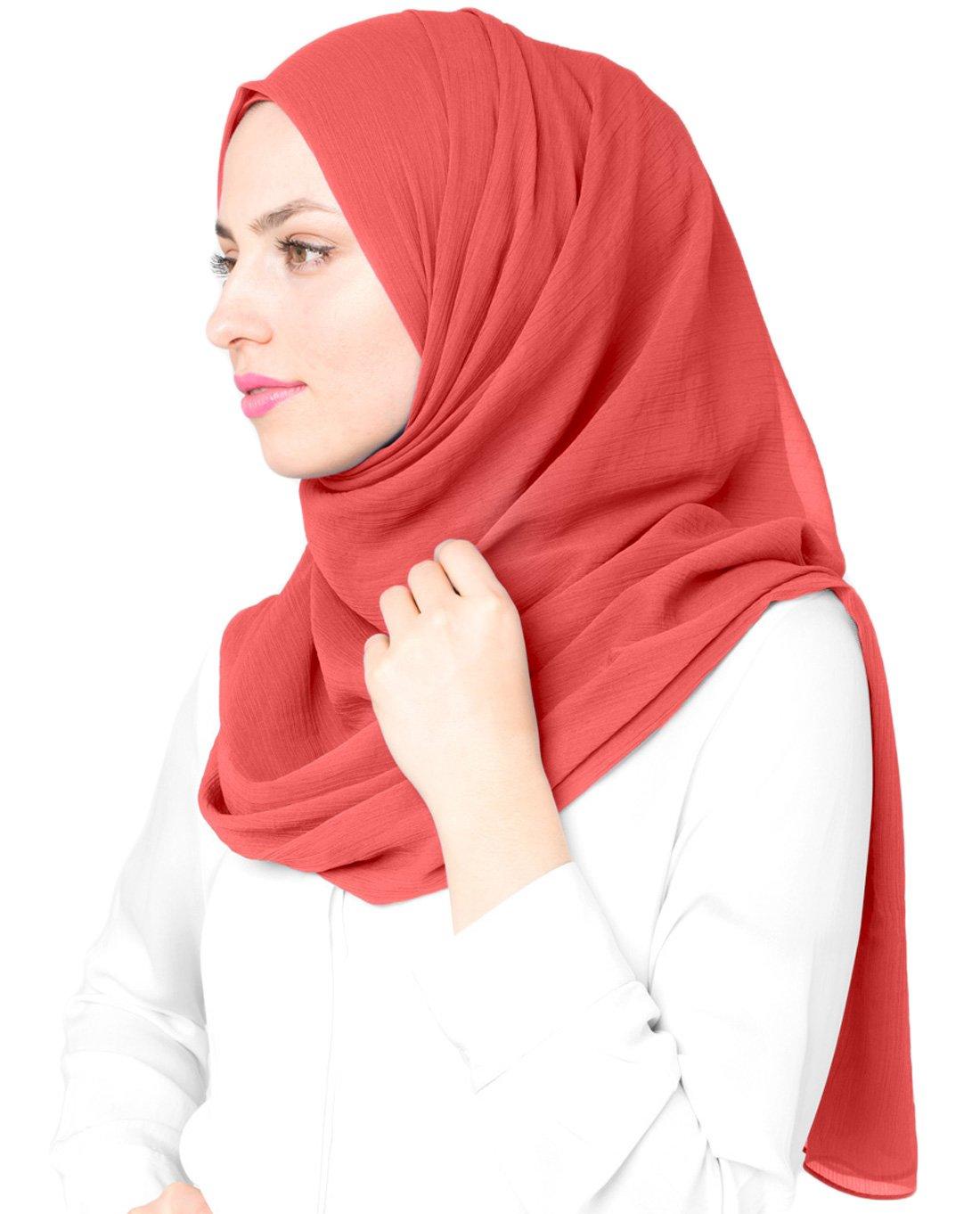 Inessence New Minimal Grey Polychiffon Scarf Ladies Wrap Hijab Maxi Size 2whjie01pc173906m