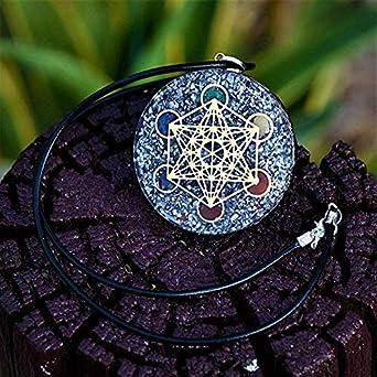 7 Chakra Orgone Pendant EMF Protection Healing Chakra Stone Orgonite With Chain
