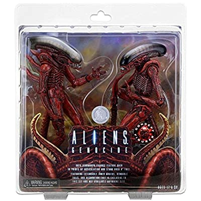 NECA Aliens 7 inch Scale Action Figure - Genocide Big Chap and Dog Alien (pack of 2): Toys & Games