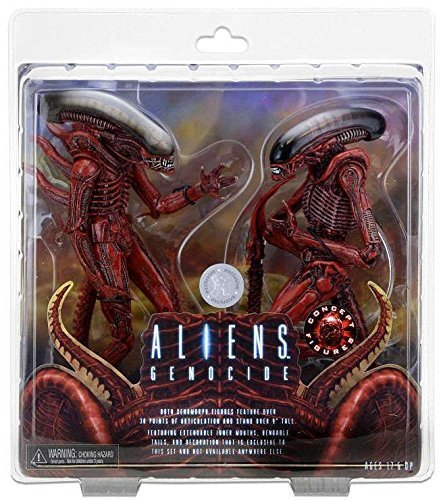 NECA Aliens 7 inch Scale Action Figure - Genocide Big Chap and Dog Alien (pack of 2) (Neca Aliens Action Figure)