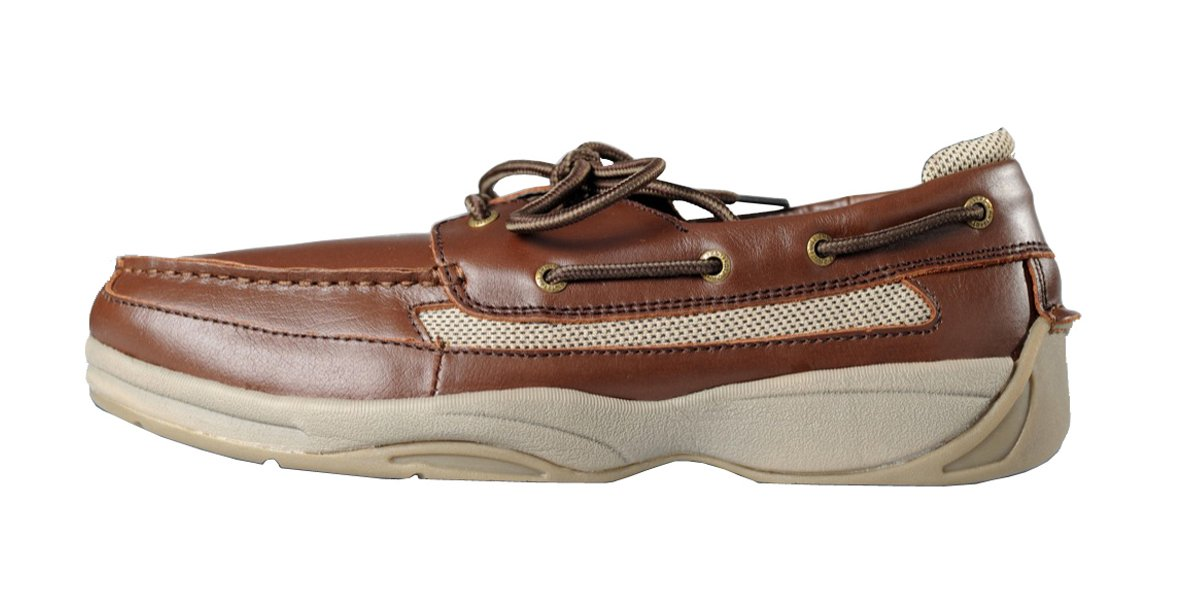 Ped-Lite Men's Neuropathy Boat Shoe - Oliver 11.5 W US|Brown