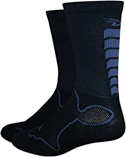 product image for DeFeet Levitator Trail 5inch Cycling/Running Socks - LEVMTB (Black/Graphite - S)