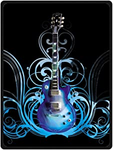 JIUDUIDODO Home Bedding & Wonderful Keep Warm Gifts Independence Day Beautiful Guitar Blanket 58 Inches x 80 Inches Sofa/Bed Used Gift for Family/Friend