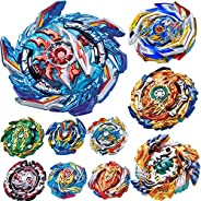 BaiYunPOY Gyros 10 Pieces Pack, Battling Top Battle Burst High Performance Set, Best Toys Gift for Boys Kids C