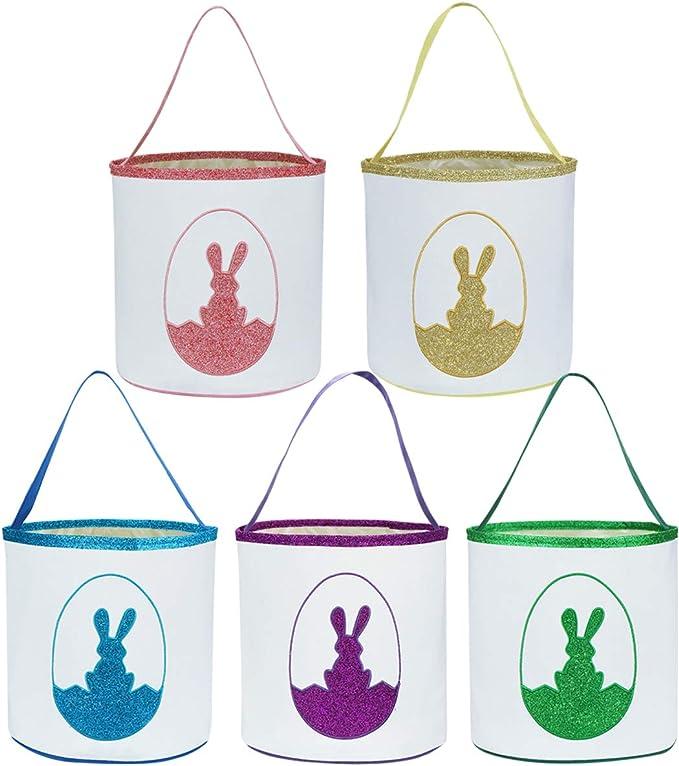 Girls Easter basket Denim Fabric Personalized Easter bag Soft baby Toddler Easter basket Easter bunny bucket for boys Easter egg hunt Decor