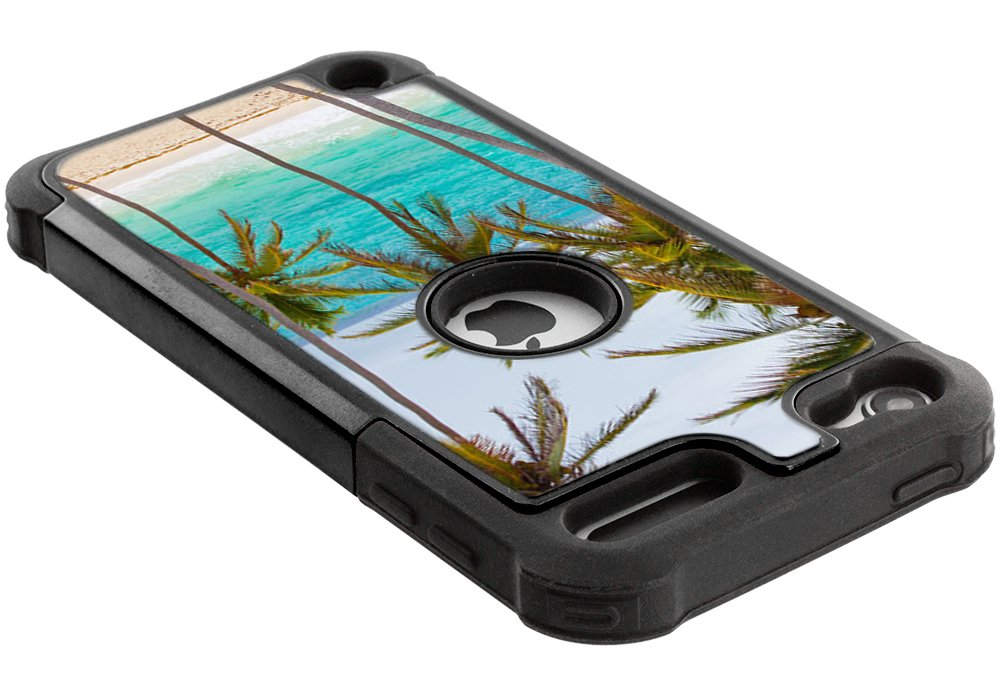 Corpcase - Hybrid Case for iPod Touch 6 / iPod Touch 5  - Tropical Palm Tree On Beach / Unique Case With Great Protection