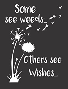 Dandelion Weed Wishes - Die Cut Vinyl Window Decal/Sticker for Car/Truck