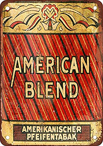WallDector American Blend German Pipe Tobacco Iron Poster Painting Tin Sign Vintage Wall Decor for Cafe Bar Pub Home Beer Decoration Crafts