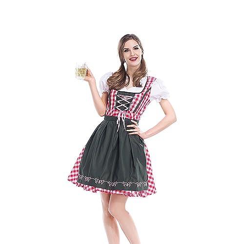 German Beer Festival Costume Bavarian Traditional Oktoberfest Dress Pink Festival Party Dress