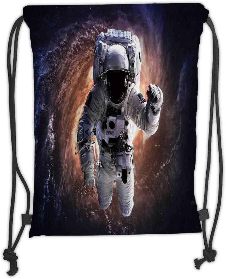 Drawstring Backpack Astronaut Space Galaxy Gym Bag