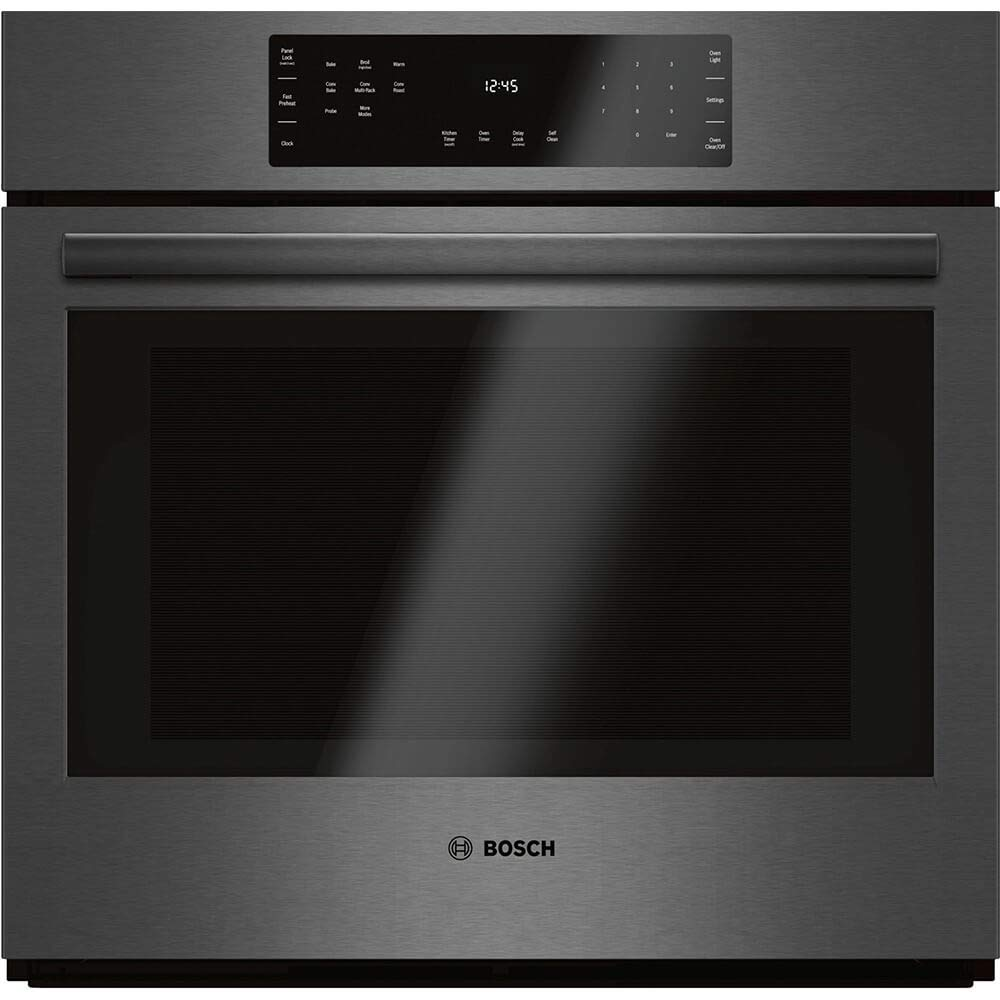 """Bosch 30"""" Black Stainless Steel 800 Series Single Wall Oven"""