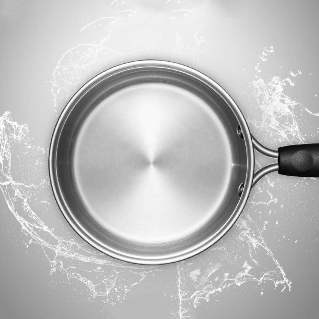 Abel Kleiner Suppentopf aus Edelstahl Antihaft 304 Edelstahl Milchk/ännchen Beikost Topf Nudel-Topf Kleiner Kochtopf Gasinduktionsherd