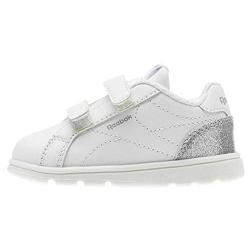 Reebok Royal Comp CLN 2V, Zapatillas de Deporte Unisex niño, Blanco (White/Silver Sparkle 000), 23.5 EU: Amazon.es: Zapatos y complementos