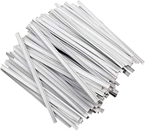 Sinerixc Plastic White Twist Ties Bendable Nose Wire Nose Bridge Strip Cable Homemade DIY Accessories Supplies 1000 Pieces