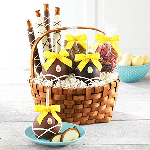 Delightful Surprises Easter Caramel Apple and Confections Gift Basket