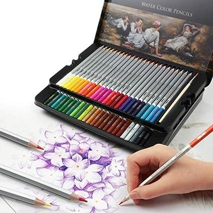 Lápiz de madera de color agua de color 48/72 colores Graffiti lápiz de dibujo del arte del lápiz escolar Plotter lápiz de dibujo: Amazon.es: Oficina y papelería