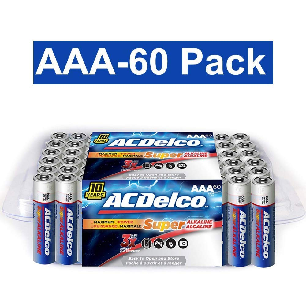 Acdelco Aa Super Alkaline Batteries In Recloseable Battery Diagram Of Leaving The Two Aaa Package 60 Count