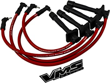 Amazon.com: VMS RACING 93-97 10.2mm High Performance Engine SPARK PLUG  IGNITION WIRES Wire Set in RED Compatible with TOYOTA COROLLA 93 94 95 96  97 1993 1994 1995 1996 1997: AutomotiveAmazon.com