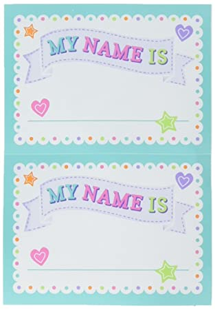 Amscan 380055 Baby Shower Name Tags Amazon Co Uk Toys Games