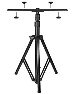 [Upgraded] Adjustable Tripod Stand for LED Flood Light - 6.55 Feet Stainless Steel Heavy Duty LED Work Light Tripod Stand for Auto, Home, Work, Job, Construction, Camping, Indoor and Outdoor Use