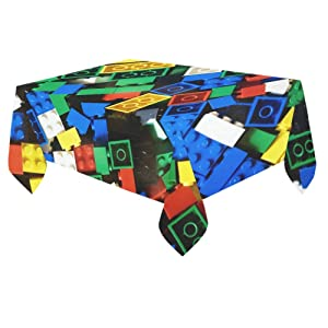 Unique Debora Custom Tablecloth Cover Cotton Linen Cloth Lego Pattern For Dining Room, Tea Table, Picnics, Parties DT-3