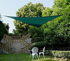 ROWE New triangle Party Sail Sun Shade Sail Green Material UV Polyethylene 20ft*20ft*20ft