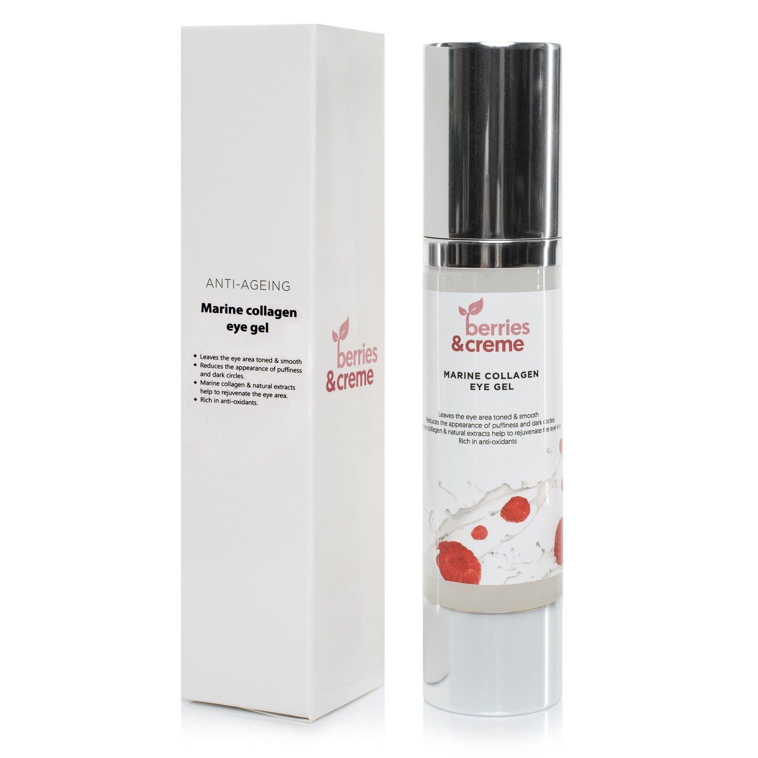 Berries and Creme Marine Collagen eye gel - THE ANTI AGEING MIRACLE EYELIFT for reduction of dark circles and wrinkles Berries & Creme
