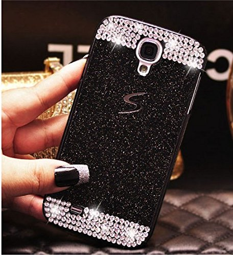 Luxury Samsung Galaxy S5 Case-Aurora® Super Slim Bling Diamond PC Hard Case with Rhinestone Cover for Samsung S5 I9600 (Black Diamond (Aurora Womens Figure)