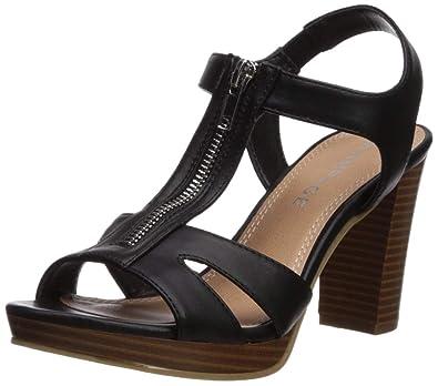 be8359e56309f Rampage Women s Preeta Peep Toe Platform Heel Sandal Heeled