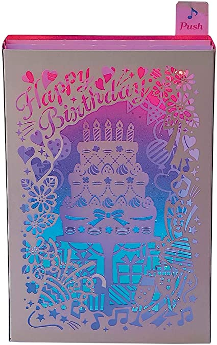 Pop Out Box Birthday Greeting Card