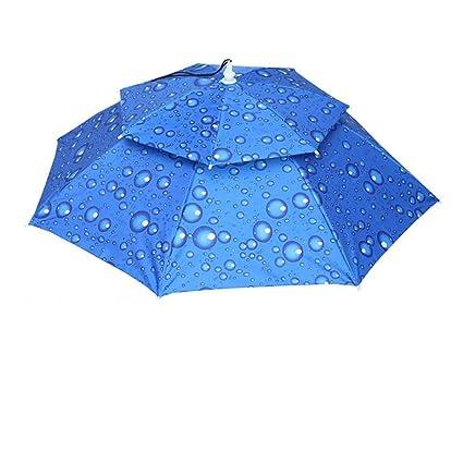 36960003a13 Greatgiftlist Foldable Novelty Hand Free Umbrella Sun Hat Cap Novelty  Waterproof Folding Headwear Sun Rain Umbrella
