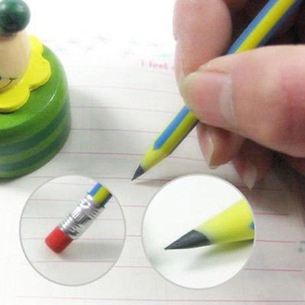 Slendima Colorful 5 Pcs Soft Magic Flexible Bendy Pencils Pen with Eraser Kids Study Gift