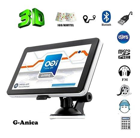"""7"""" Navegador GPS portátil-satélite coche 45 países de Europa actualización con mapas de"""