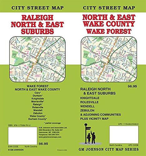 Wake County / Raleigh North & East Suburbs, North Carolina Street Map ()